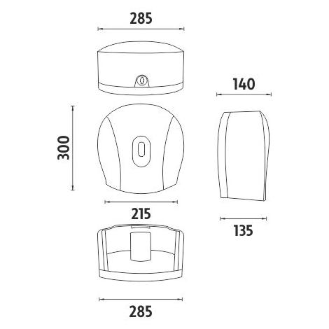 Tork toaletný papier 19,4 m, 3-vrstvový, Ø 12,5 cm, 60 roliek,  (T4) jemný