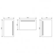 Univerzálne rautové spony na dosky s hrúbkou 3,2 - 6,5 cm, 25ks
