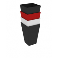 Predajný slnečník 3x2m červený 8kg